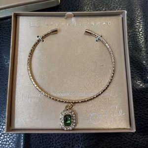 Lauren Conrad NWT Gold-Tone Green Gem Bracelet NIB